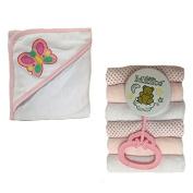 Four Seasons Baby Girl Bath Gift Set