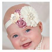 Aimeio Fashion Infant Toddler Baby Headbands Girl Flower with Rhinestone Head Band Kids Hair Accessories