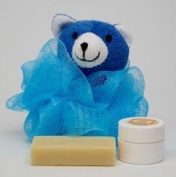 "Neem Oil Soap ""Heaven Scent"" & Rash Relief Neem Cream ""Blue Bear"" Loofa Bath and Gift Set - For Babies and Kids!"