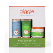giggle Body Care Gift Set - Nappy Cream, Healing Balm, Body Lotion - 3 ct