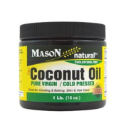 Mason Vitamins Pure Virgin Cold Pressed Coconut Oil, 470ml