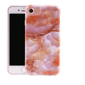 iphone 7 Plus Case ,UCLL New Marble Crystal Design Perfect Cover For Iphone 7 Plus With a Screen Protector