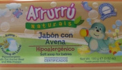 Arrurru Naturals Jabon con Avena, Soft Soap for babies 100ml