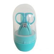 LoveInUSA Baby Safety Finger Toe Nail Clipper Scissor Set, Blue