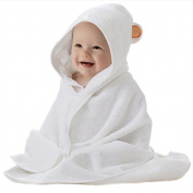 Premium Extra Soft Organic Bamboo Baby Hooded Bath Towel - Hypoallergenic & Antibacterial - Newborns, Infants, and Toddlers