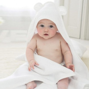 Bamboo Hooded Baby Towel with bear ears, Organic, Hypoallergenic, Antibacterial, Premium soft feel Perfect for infants and babies, super absorbent, quick dry Made by BabyDry Towels.
