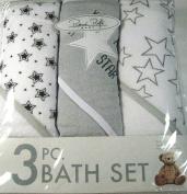 Rene Rolfe Baby 3 Pc. Bath Set-3 Hooded Bath Set for Baby Boy Super Absorbent