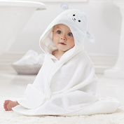 Baby Bath Towel with Hood & Door Hanger by Lucylla|Super Absorbent Toddler Hooded Bathing Robe with Cute Lamb Face Design|Ultra Soft Organic Bamboo|Great Infant/Newborn Shower Gift for Boy or Girl