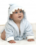 PREMIUM ORGANIC BAMBOO - Extra Soft Baby Towel / Blue Shark Baby Towel With Hood / Bath Robe, Girls and Boys Newborn, Infant & Toddler - Perfect For Baby Shower Gifts - FREE HANGING BAG