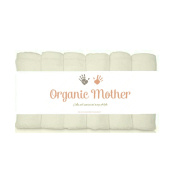 """ORGANIC MOTHER 6 EXTRA SOFT Baby Bath Washcloths, 100% Natural Bamboo Towels, Dye Free, Perfect for Sensitive Baby Skin, 100% Organic, Hypoallergenic, All Natural, Bamboo, Eco Friendly- SIZE 25cm X10"""""""