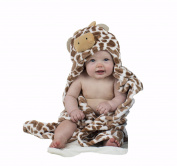 BabyMei Brown Cow . Hooded Towel, 100% Soft Cotton Baby Bath Robe Aspen Suitable For Newborns Infants And Toddlers