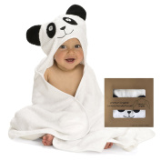 Premium Organic Baby Bamboo Hooded Towel | Extra Soft and Absorbent | Hypoallergenic | Large size | Suitable for infants and toddlers | Designed for boys & girls | Keeps your baby & toddler Dry