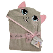 Extra Large 100cm x 80cm Hooded Towel for Babies, Infants, Toddlers, Kids, Grey Cat