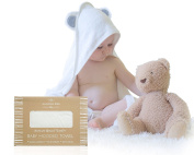 Premium Bamboo Hooded Baby Towel by Humble Bee Baby - Ultra Soft & Hypoallergenic Bamboo Fibre Perfect For Baby's Sensitive Skin - For Newborn and Toddler, Boy or Girl