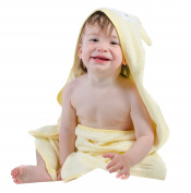 Happer Baby Hooded Baby Towel Yellow Sheep