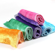 Lucoo soft comfortable New Kitchen 5 Pcs Mixed Colour Microfiber Car Cleaning Towel Kitchen Washing Polishing Cloth