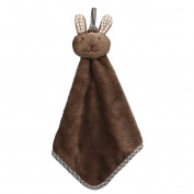 Lucoo soft comfortable New Kitchen Cartoon Animal Hanging Cloth Soft Plush Dishcloths Hand Towel