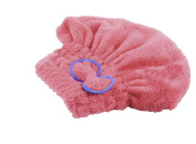 Lucoo soft comfortable Textile microfiber hair turban quickly dry hair hat wrapped bath towel