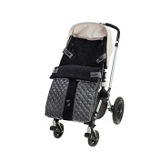 Peradi Stroller Bunting, Quilted Grey