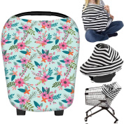 Nursing Cover Breastfeeding Cover Scarf Baby Car Seat Canopy Shopping Cart Stroller Carseat Covers Best Baby Shower Gift for Girls and Boys - Multi-Use Infinity Stretchy Shawl