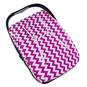 Artempo Lightweight baby infant Car Seat Canopy Cover, Peak-a-boo Opening, Canopy Protection, Oxford material, Colour Zigzag White/Fuchsia