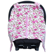 JLIKA Baby Car Seat Canopy Cover - Infant Canopy Cover for newborns infants babies girls boys best shower gift for carseats