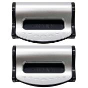 PCTC 2pcs Car Auto Seat Belt Fix Stopper Clip Clamp Strap Adjustable Clip for Dodge Ram 1500 2500 3500 4500 BMW 528i Xdrive 535i 550i Gt