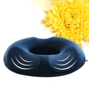 Liangxiang Coccyx Tailbone Seat Cushion Memory Cotton Pillow for Back Support, Tailbone and Sciatica Pain Relief, Washable Cover(Navy Colour)