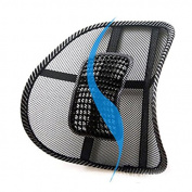 LanHong Car Seat Chair Massage Back Lumbar Support Mesh Ventilate Cushion Pad