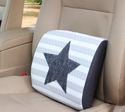 Snow Courage Memory Foam Lumbar Support Back Pillow Office Chair and Car Seat Cushion -Star