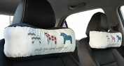Neck Pillow Auto Head Neck Rest Cushion Car Seat Head Rest Support-Cute Horses Set of 2 By Snow Courage
