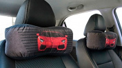 Snow Courage 2 Pcs Neck Pillow Auto Head Neck Rest Cushion Car Seat Head Rest Support - Racing Car