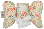 Baby Elephant Ears Head Support Pillow & Matching Blanket Gift Set ~ Cross Stitch