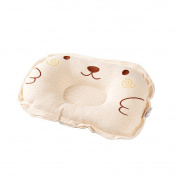 Easyinsmile Infant headrest prevent Flat round foam baby pillow