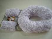 Blankets and Beyond Lavender Travel Pillow and Seat Belt Cover