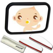 Baby Car Mirror ,Ansoon Adjustable Auto Baby Car Back Seat Mirror for Infant Child Toddler Rear Ward Facing Safety View Reflection