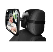 CandyQ Baby Car Back Seat Mirror , With Secure Double-Strap, 360°Rotated