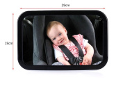 WENDYWU Baby Mirror For Car, Baby Car Mirror Helps keep an Eye on your Rear Facing Infant, Back Seat Mirror is Wide, Convex,Clear View, Shatterproof and Adjustable