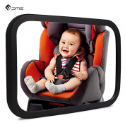 PME Rear View Mirror - BACKSEAT BABY CAR REAR VIEW MIRROR - infant in-sight mirror 360° Adjustable angle, Convex and Shatterproof Glass