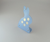 Coin Display Holder - ideal for Beatrix Potter 50p coin set - Rabbit shape Blue Acrylic