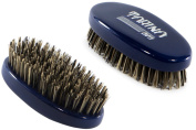 Torino Pro #430 - Boar Bristle Palm Hard Reinforced Hair Brush - Easy 360 Waves - Handheld Military Round square Design - Naturally Moisturise, Condition, Reduce Frizz,Promote Circulation