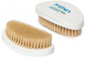 Torino Pro #340 Boar Bristle Palm Soft Curved Hair Brush - Easy 360 Waves - Handheld Military Round Oval Curve Design - Naturally Moisturise, Condition, Reduce Frizz, Promote Circulation