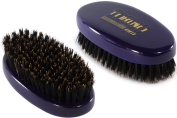 Torino Pro #420 Boar Bristle Palm Medium Hair Brush - Easy 360 Waves - Handheld Military Round Oval Design - Naturally Moisturise, Condition, Reduce Frizz,Strengthen, Promote Circulation of Hair Roots