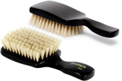 Torino Pro #140 Boar Bristle Club Extra Soft Hair Brush - Easy 360 Waves - Naturally Moisturise, Condition, Reduce Frizz, Exfoliate, Strengthen, Promote Circulation of Hair Roots-Great for Babies