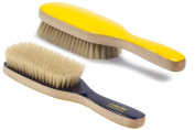 Torino Pro # 300 Boar Bristle Paddle Hair Brush - Easy 360 Waves - (SOFT) Natural Boar Bristles - Naturally Moisturise, Condition, Reduce Frizz, Exfoliate,Promote Circulation of Hair Roots 8 rows