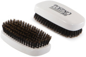 Torino Pro #110 Boar Bristle Palm Soft Hair Brush - Easy 360 Waves - Handheld Military Squared Design - Naturally Moisturise, Condition, Reduce Frizz,Strengthen, Promote Circulation of Hair Roots