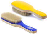 Torino Pro #320 Boar Bristle Paddle Hair Brush - Easy 360 Waves - (Medium) Natural Boar Bristles - Naturally Moisturise, Condition, Reduce Frizz, Exfoliate,Promote Circulation 9 rows
