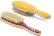 Torino Pro # 280 Boar Bristle Paddle Hair Brush - Easy 360 Waves - (Medium) Natural Boar Bristles- Naturally Moisturise, Condition, Reduce Frizz, Exfoliate,Promote Circulation - 7 rows