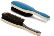 Torino Pro #210 Boar Bristle Paddle Hair Brush - Easy 360 Waves - (SOFT) Natural Boar Bristles - Naturally Moisturise, Condition, Reduce Frizz, Exfoliate,Promote Circulation of Hair Roots 7 rows