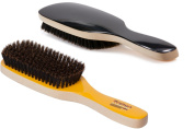 Torino Pro #230 Boar Bristle Paddle Hair Brush - Easy 360 Waves - (SOFT) Natural Boar Bristles - Naturally Moisturise, Condition, Reduce Frizz, Exfoliate,Promote Circulation of Hair Roots 9 rows